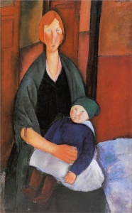 Seated Woman with Child (Motherhood) - Amedeo Modigliani, 1919.