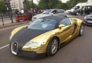Gold Bugatti Veyron.